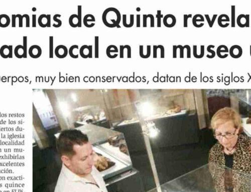 Las momias de Quinto revelan el pasado local en un museo único (Diario de Teruel)