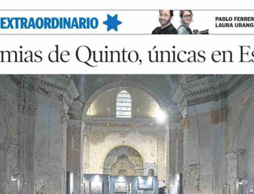 Las momias de Quinto, únicas en España (Heraldo)